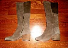 Splendid Women's Kassie Tobacco Brown Suede Tall Zipper Side Boots 10 US