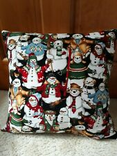 Christmas Snowmen Pillow New Homemade