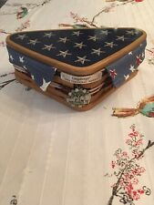 Longaberger 2009 Inaugural Basket Set Lid Liner Protector Tie-On Triangle Shape