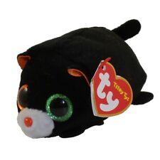 "TY Halloween Beanie Boos Teeny Tys 4"" TREAT Black Cat Stackable Plush Toy MWMTs"