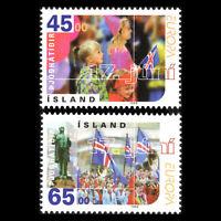 Iceland 1998 - EUROPA Stamps - Festivals and National Celebration - Sc 860/1 MNH
