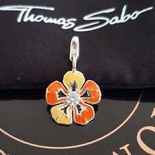 THOMAS SABO Blume Charm Club Armband Kette Anhänger 925 Silber flower Silver NEU