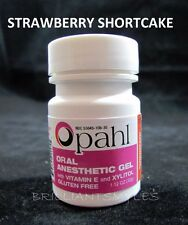 Opahl 20% Benzocaine Topical Anesthetic Gel STRAWBERRY Tattoo Numbing Piercing