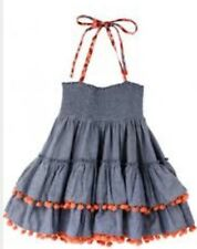 NWT Jak And Pepper Laney Convertible Skirt Top 5 12 14 16 Jean Orange Pom Pom