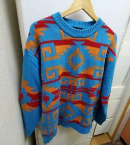PENDLETON Authentic Native Pattern Knit Sweater Size XL Used from Japan