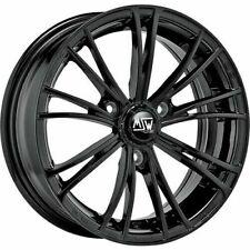 MSW Por OZ X2 Llantas Aluminio Negro Brillante Smart Fortwo 451 5,5´´ + 6,5´´