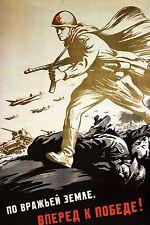 """WW2 - Photo affiche """"Le rouleau compresseur soviétique"""""""