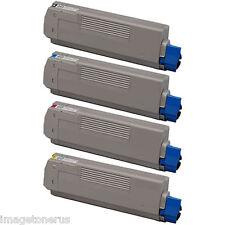 4-Pack Toner Set for Okidata Oki C6100 C6100n C6100dtn C6150 C5550 MC560 MFP