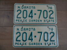 New Listing1974 North Dakota License Plates 204-702 - Peace Garden State