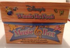 Disney's Winnie The Pooh Music Box With 5 Books & Magnet