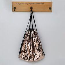 Sequin Glitter Drawstring Women Backpack Shoulder Bag Shopping Travel Bags