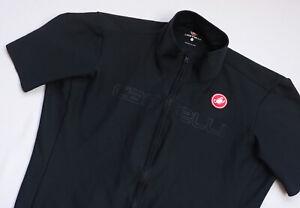 Castelli WINDSTOPPER Cycling Jersey men Short Sleeve top size L Large black