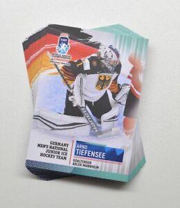 2021 BY cards IIHF U20 World Championship Team Germany Full 22-Card Set
