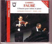 GABRIEL FAURE CD NEW GERARD POULET NOEL LEE