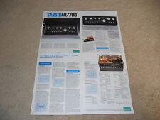 Sansui AU-7700 Amplifier Brochure, 4 pg, Specs, Info