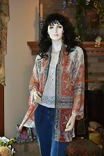 NEW SOFT SURROUNDINGS SHEER PAISLEY FLOWING CATHERINE TOPPER X-SMALL $89