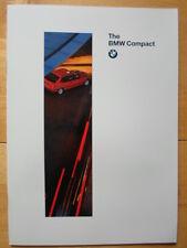 BMW 3 Series Compact 1995 prestige UK Market brochure prospekt