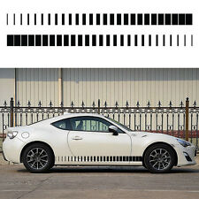 2x Side Stripes Vinyl Sticker decal Black or White Car