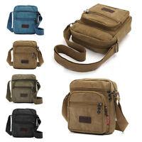 Mens Canvas Shoulder Bag Corss Body Zipper Miliitary Casual Menssenger Handbag