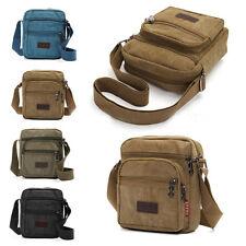 Men Messenger Canvas Shoulder Bag Crossbody Small Handbag Retro Business Travel