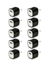 10x Black 1A USB Power Adapter AC Home Wall Charger US Plug FOR iPhone 5 5S 6 7