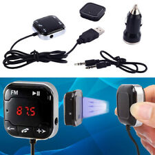 Mini Handfree Wireless Stereo FM Transmitter Car Kit Set USB Charger MP3 Player