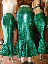 HALLOWEEN COSTUME~Sexy Mermaid Skirt~~SZ Medium~Stretchable Fabric~Side Zipper