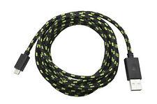 Snakebyte 3m Ladekabel für XBOX One Controller Micro USB zu USB Meshkabel