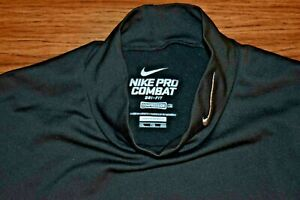 NIKE PRO COMBAT DRI-FIT XXL Men's L/S Poly Spandex Mock Neck Compression Shirt
