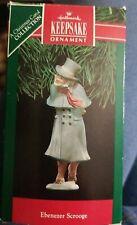 Hallmark Keepsake Porcelain Ornament 1991 Ebenezer Scrooge A Christmas Carol