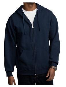 Fruit of the Loom Men's Eversoft Fleece. Full Zip Hoodie Jacket. Sz. S Navy