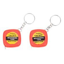 2 piezas de Mini cinta metrica de multifuncion con caja roja de 1 metro 3 p Q1L1