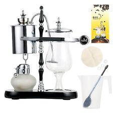 Belgium Luxury Royal Family Siphon/Syphon Balance Coffee Maker Silver Brewer Set