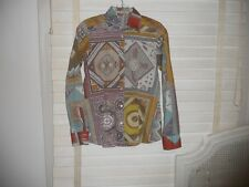 Etro Italy ~ Art To Wear ~ Spectacular Geo Print Blouse ~ 40