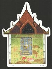 THAILAND 2019 HERITAGE CONSERVATION MURAL PAINTING TEMPLE SHAPED SOUVENIR SHEET