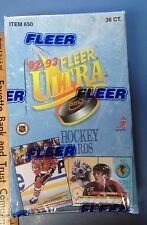 1992-93 Fleer Ultra Hockey Cards Factory Sealed Wax Box 36 Packs