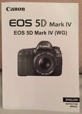 Canon EOS 5D Mark IV Manual - Printed & Professionally Bound Size A5 - 610 pages