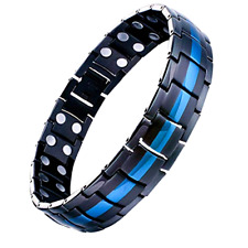 Mens Titanium Steel Magnetic Therapy Magnet Bracelet Arthritis Joint Pain Relief