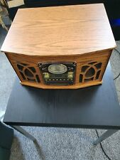 All In One Wooden Cased Record Player CD Tape Radio Retro Styling