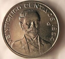 1964 MEXICO 25 CENTAVOS - One Year Type - AU/UNC - FREE SHIPPING - Bin #61