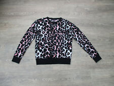 *AGE 12-13 YEARS, GIRLS LEOPARD PRINT TOP, PINK, BLACK, WHITE, LONG SLEEVES (A)*