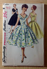 Vintage 1950s 1960s SIMPLICITY Women Sewing Pattern 1119 One-Piece Dress B33