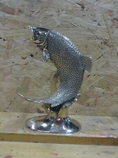 More details for brass leaping salmon
