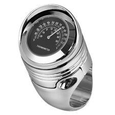 "Chrome Universal 1 1/4"" 1.25"" Motorcycle Handlebar Thermometer Temperature Gauge"