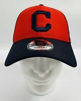 Cleveland Indians New Era 9TWENTY MLB Strapback Adjustable Hat Dad Cap Red/Blue