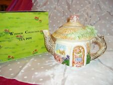 "Unique, NIB, ""THE WINDSOR COLLECTION CERAMIC TEA-POT"", Bear House Theme"