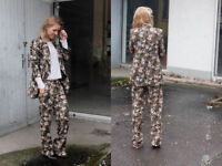 ZARA FLORAL LOOSE FIT TROUSERS PALAZZO SIZE SMALL REF 8110 710