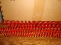 #20 Count Twenty Premium OFFICE DEPOT Color Coil Spiral Spines RED Gloss 20mm