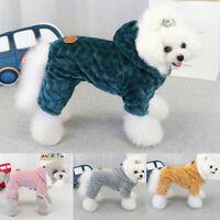 Winter Puppy Pad Dog Coat Jacket Chihuahua Pet Hoodies Cat Jumpsuit Clothes CA