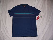 NEW WITH TAGS MEN'S ALFANI SHORT SLEEVE BLUE POLO SIZE LARGE